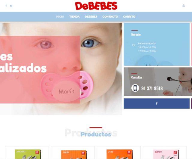 Tienda online Personalizaciones Debebes